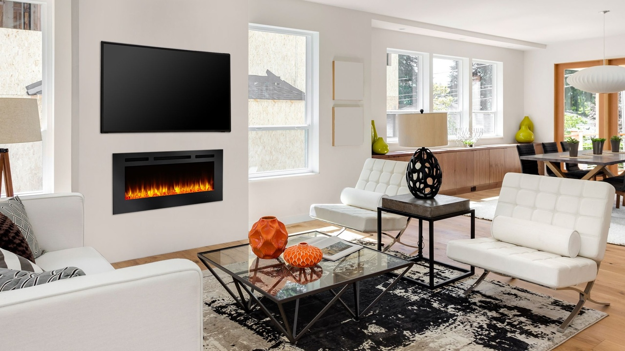 Allusion Electric Fireplace Heat Glo
