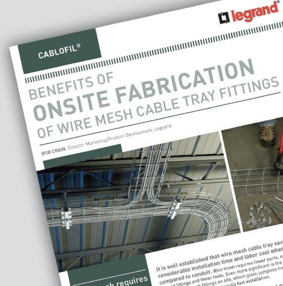 Image of Cablofil brochure about benefits of onsite fabrication
