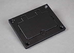 Powder-Coated Alum Rectangular Cover Plate-Black - 828GFITCAL-BK