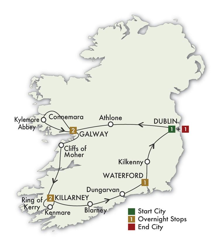2022  Irish Gold - 8 Days/7 Nights