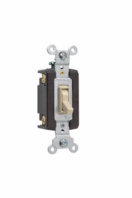 TradeMaster Grounding Toggle Switch, Ivory, 664IG