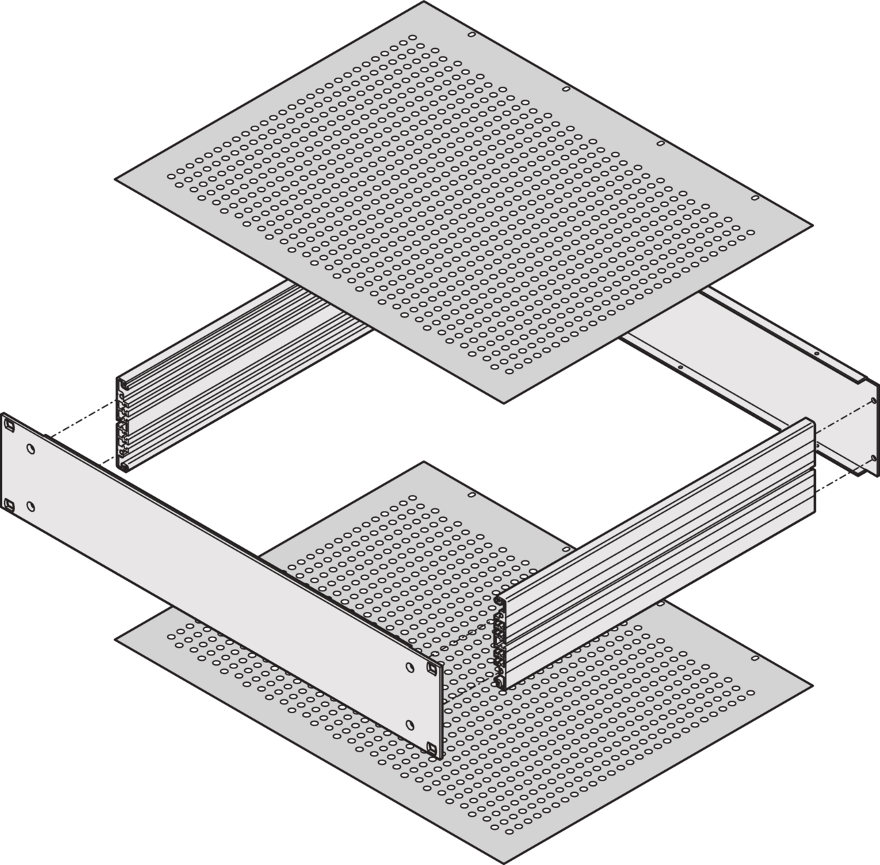 Image for Top cover/base plate, perforated from Schroff - North America