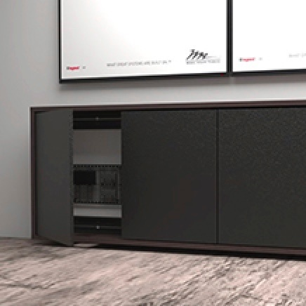 Audio video furniture console