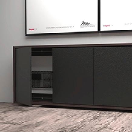 Audio video furniture console