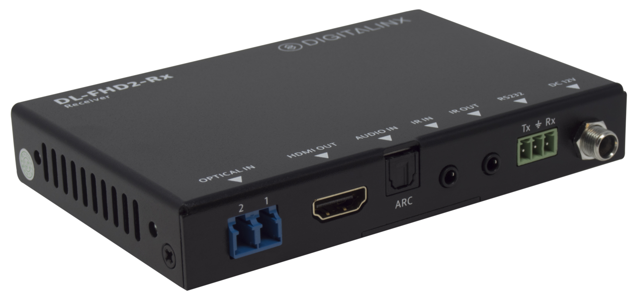 DL-FHD2 - Digitalinx HDMI 2.0 Fiber Extension Set w/ ARC & Control