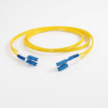 Simplex 2.0mm Zip Patch Cord, LC to LC, 2-Fiber, Single Mode OS2, A-B, Rise, Yellow Jacket, 3M