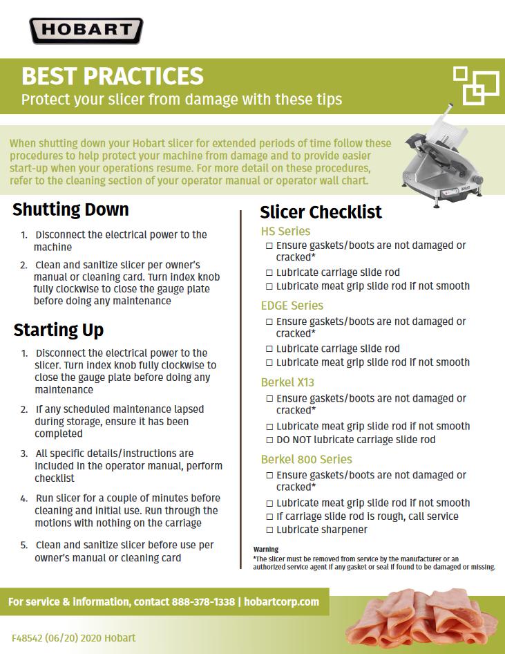 Slicer Checklist