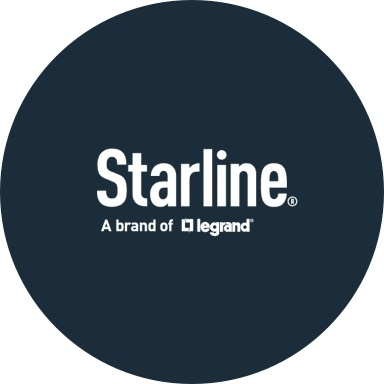 Starline logo with navy blue background