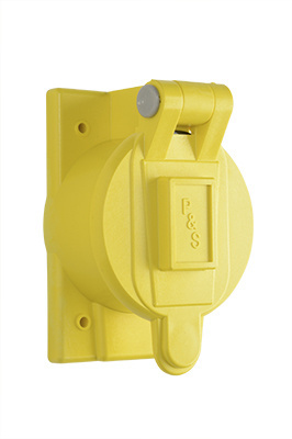 Flip Lid Weatherproof Cover for 50A Turnlok®, Yellow