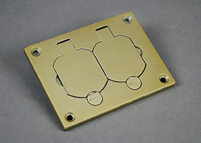 Powder-Coated Alum Duplex Cover Plate-Brass - 828R-TCAL-BS