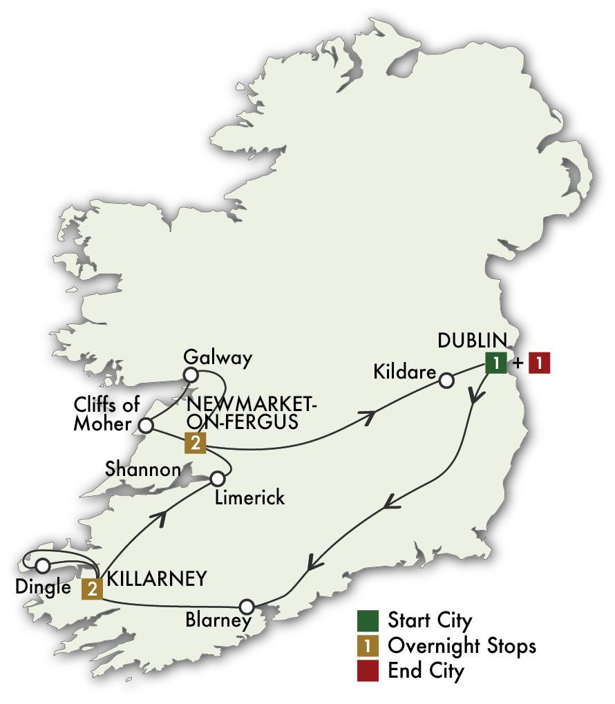 2022 Best of Ireland South (Tour C) - 7 Days/6 Nights