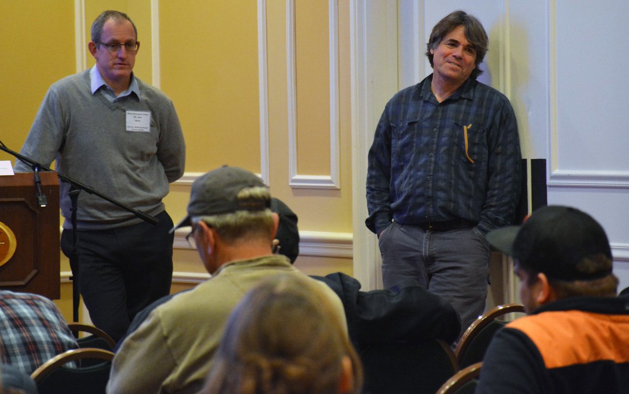 NEFSC's Jon Hare and John Manderson at Maine Fishermen's Forum