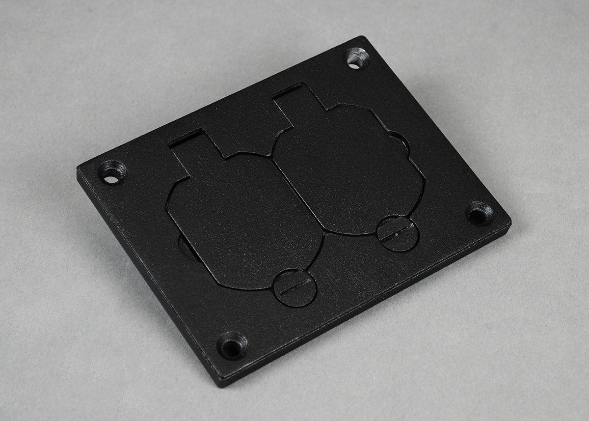 Powder-Coated Alum Duplex Cover Plate-Nickel - 828R-TCAL-NK