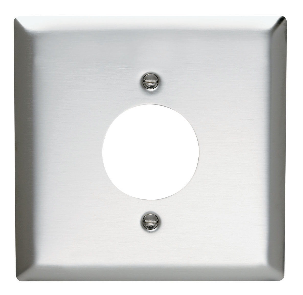 Power Outlet Receptacle Opening, Two Gang, 302/304 Stainless Steel