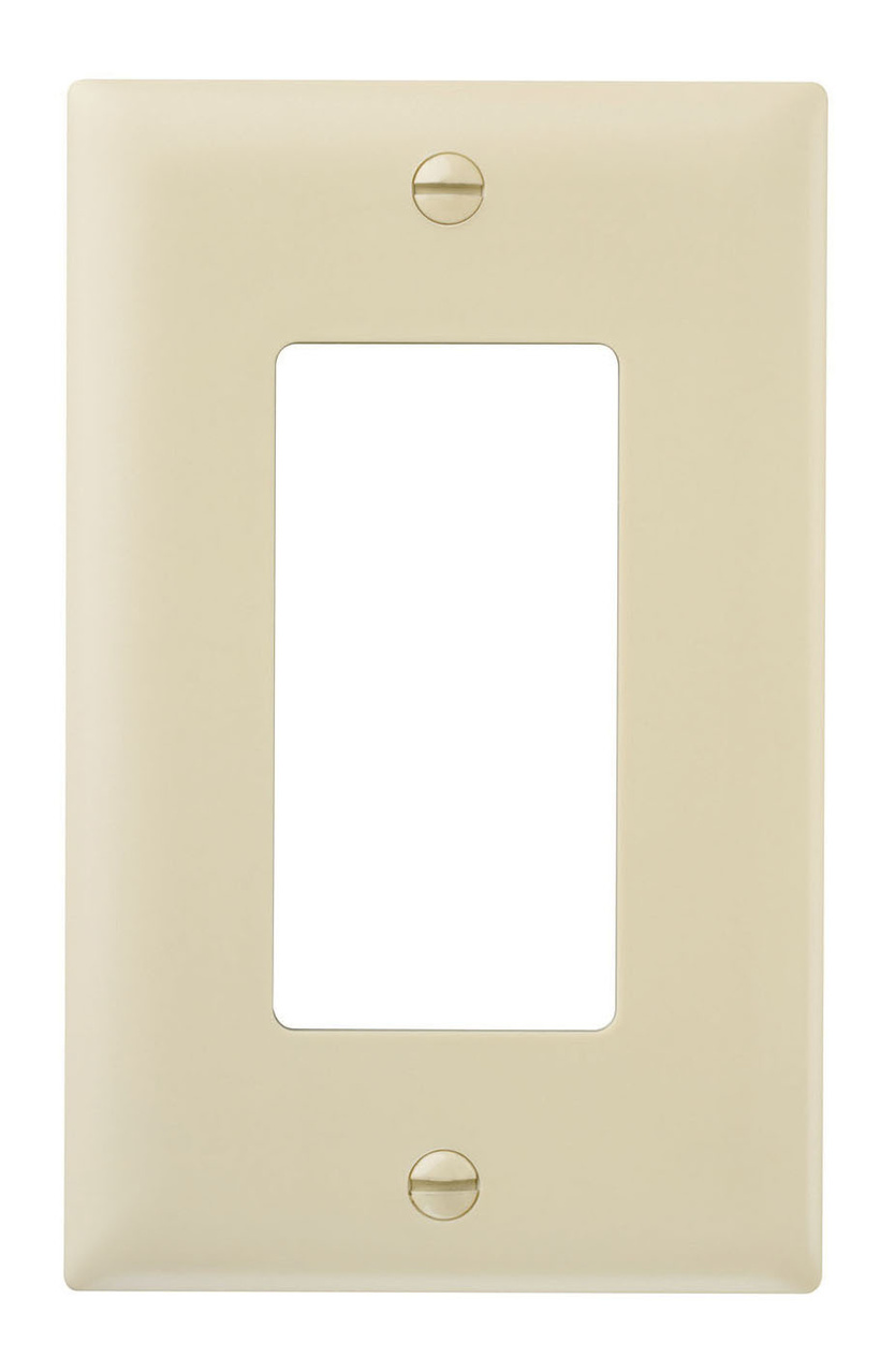 Decorator wall plate, single gang, ivory
