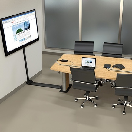 Office conference room with cable management solutions