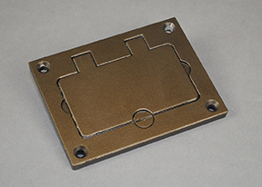Powder-Coated Alum Rectangular Cover Plate-Bronze - 828GFITCAL-BZ