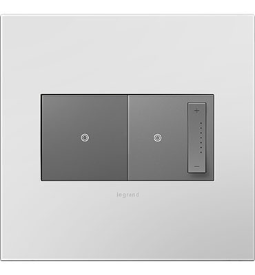 adorne 2-Gang Powder White Wall Plate