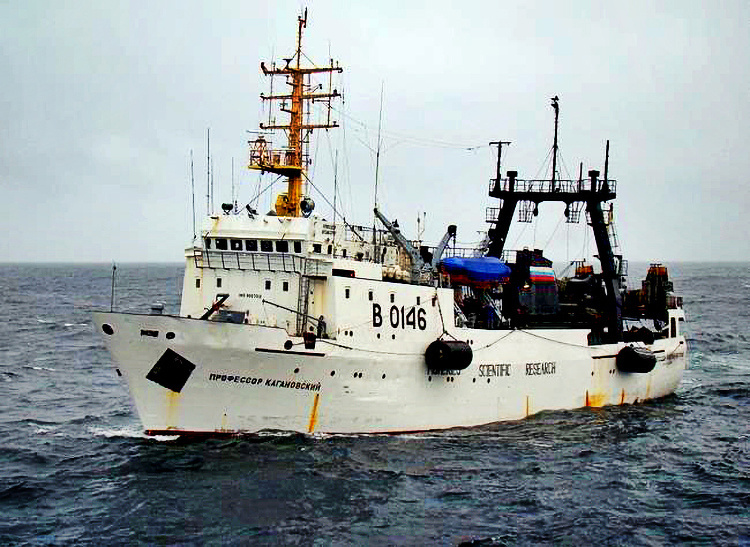 The Russian research ship, Professor Kaganovskiy, will set sail for the Gulf of Alaska over the next month.