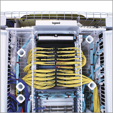 White racks and cabinets for data center
