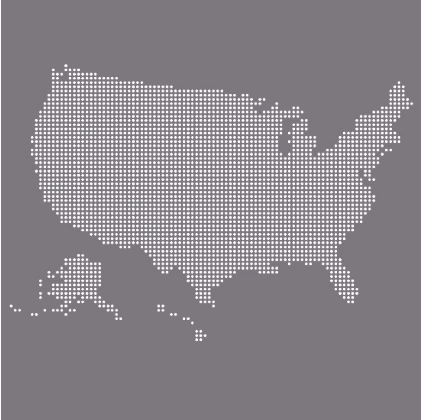 Graphic of United States map