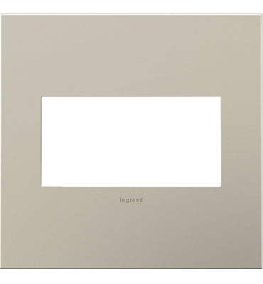 adorne 2-Gang Satin Nickel Wall Plate