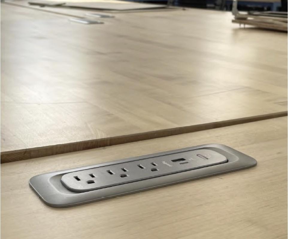 ModPower System installed in desk