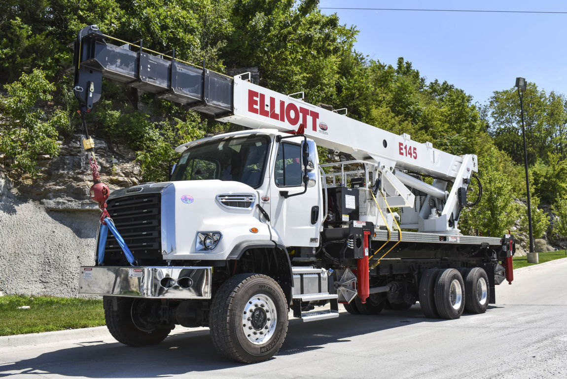 Elliott E145 E-Line Aerial Device on 2016 Freightliner 108SD 6x6