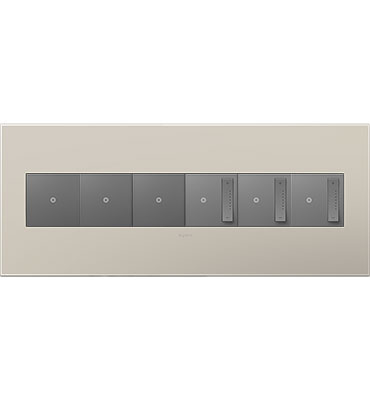 adorne 6-Gang Griege Wall Plate