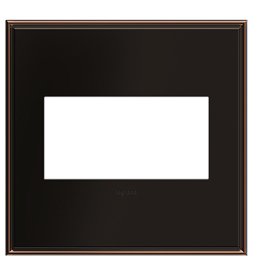 adorne 2-Gang Oil Rubbed Bronze Wall Plate