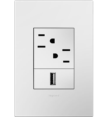 adorne White 1-Gang+ Wall Plate