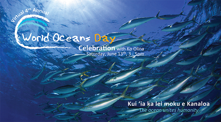 Virtual 4th Annual World Oceans Day Banner