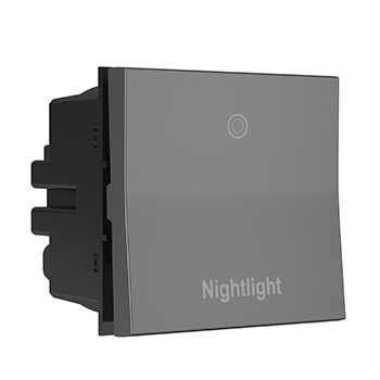 Engraved Paddle™ Switch, 15A, Magnesium - Nightlight