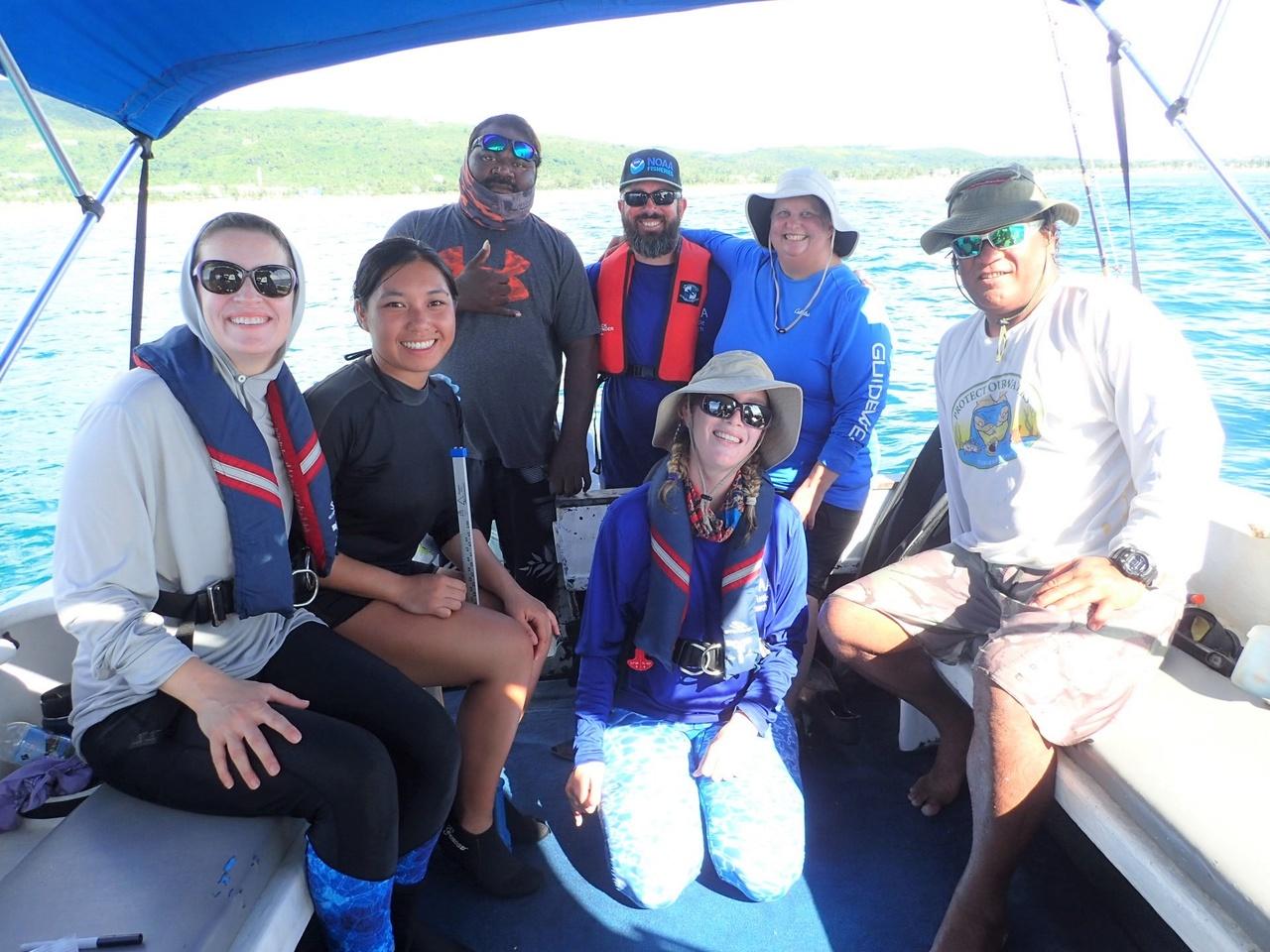 CNMI turtle team.