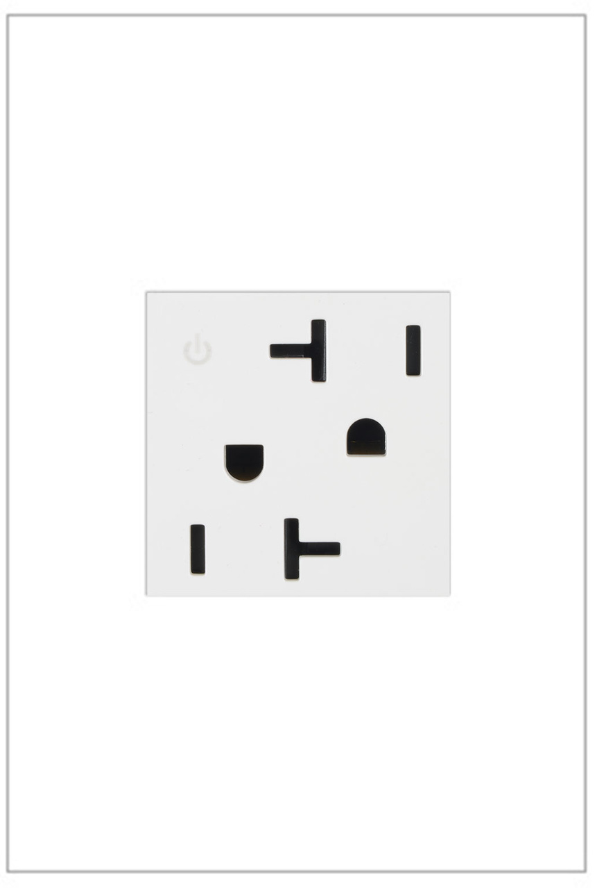 Dual Controlled Outlet, 20A, White