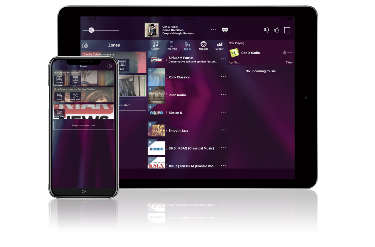 Nuvo Player Portfolio on iPhone and iPad