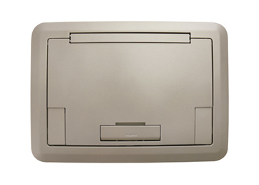 Surface Style Cover With Solid Lid Nickel Powder Coated Finish, EFB45BTCNK