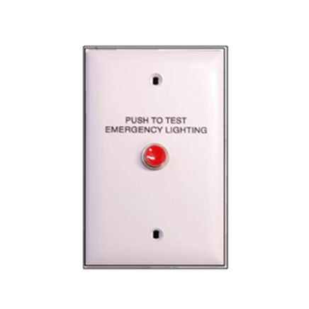 Emergency wall lighting test switch