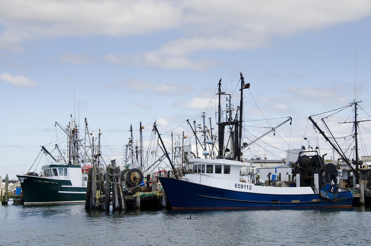 Northeast fishing boats. New England fisheries video shoot for NOAA and Ocean Media Center.