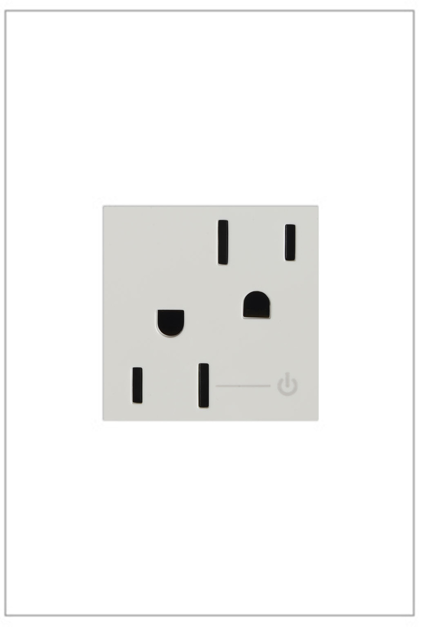 Half Controlled Outlet, 15A, White