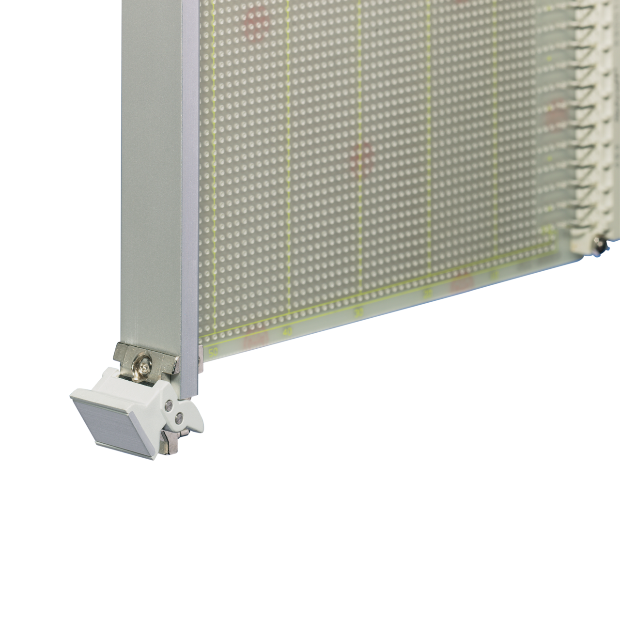 Image for Plug in unit, front anodized, rear etched, shielded (textile), front assembly, type 2 trapezoid handle from Schroff - Asia Pacific
