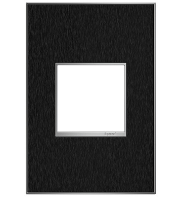 adorne 1-Gang Black Stainless Wall Plate