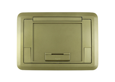 Surface Style Cover with Floor Insert Brass Powder Coated Finish, EFB45CTCBS