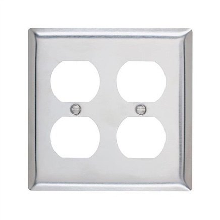 metal two gang wall plate