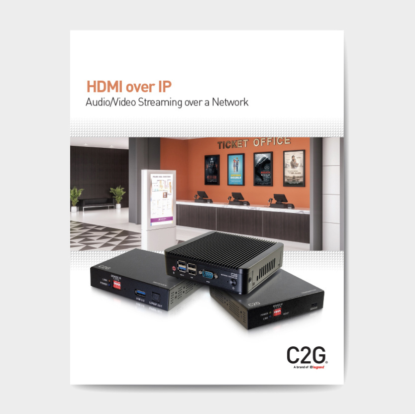 HDMI over IP brochure image from C2G