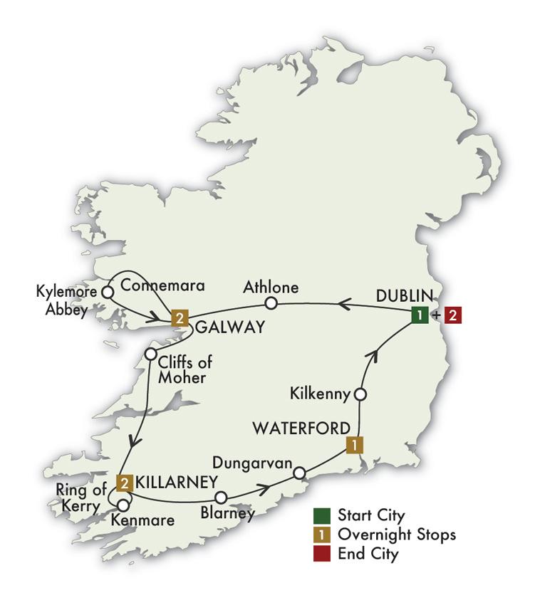 2021  Irish Gold - 9 Days/8 Nights