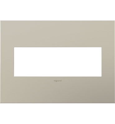 adorne 3-Gang Satin Nickel Wall Plate