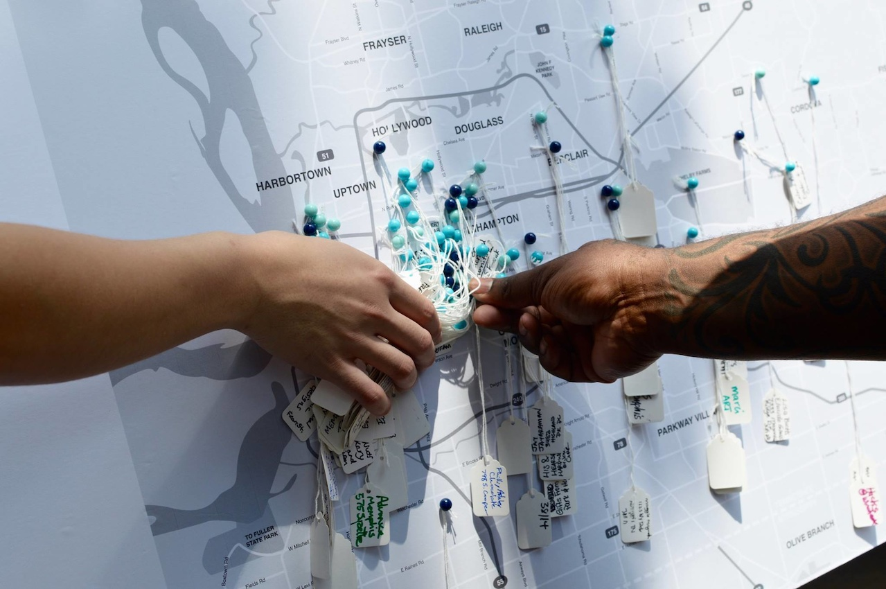 At the recent Memphis Makers Fair at Memphis City Hall, participating makers added their name and location to a city map to show the power of the local maker movement.