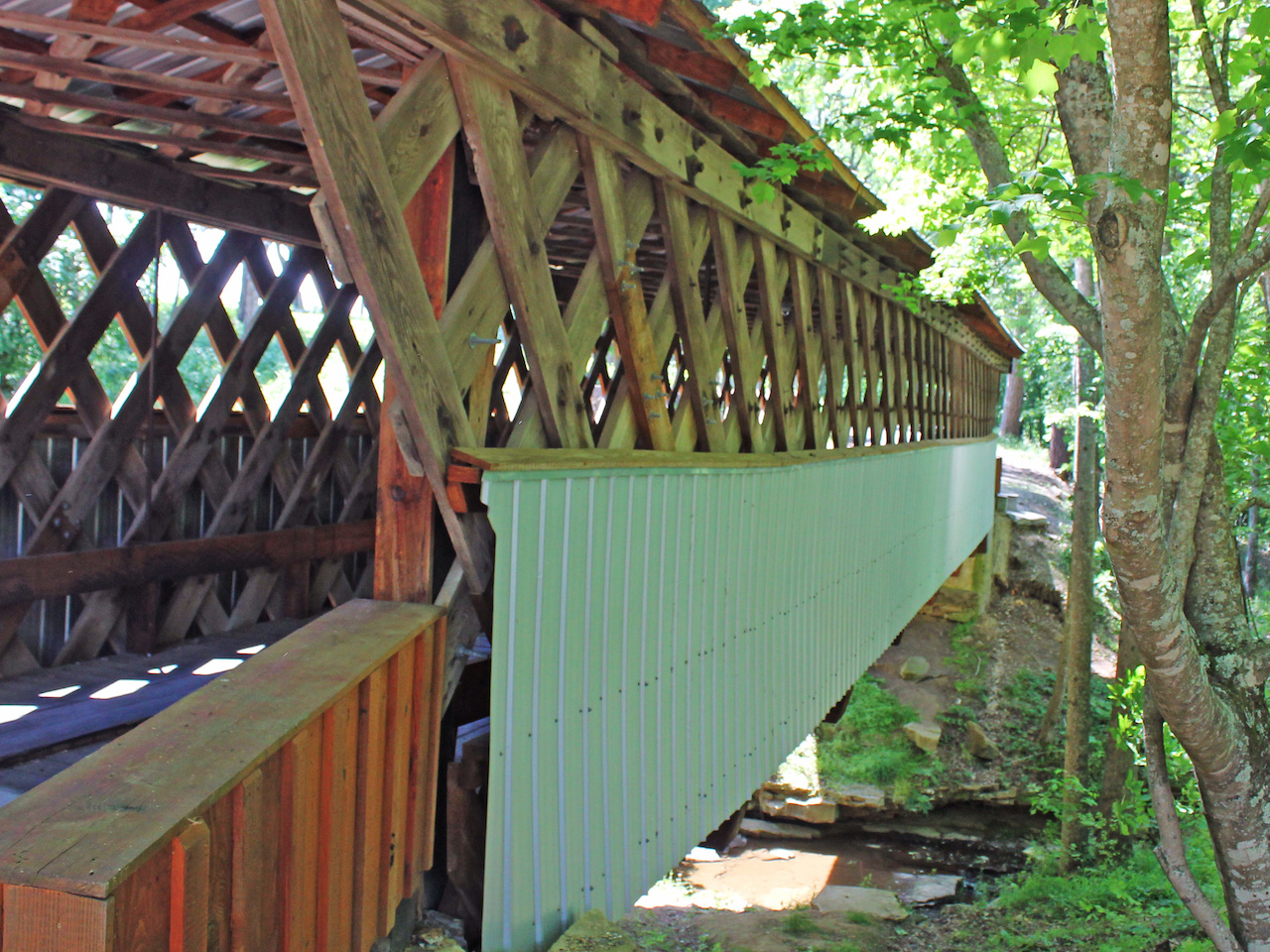 Old Easley Bridge has been in continuous use since it was constructed in 1927, save a few small repairs.