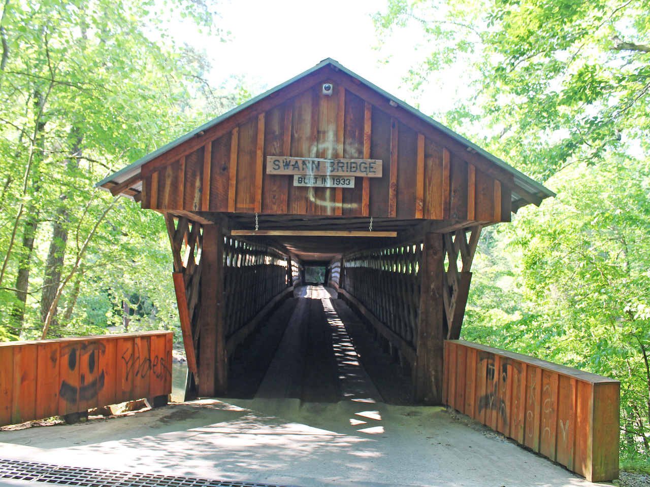 At 324 feet long, this Alabama bridge is one of the longest covered bridges in the United States.